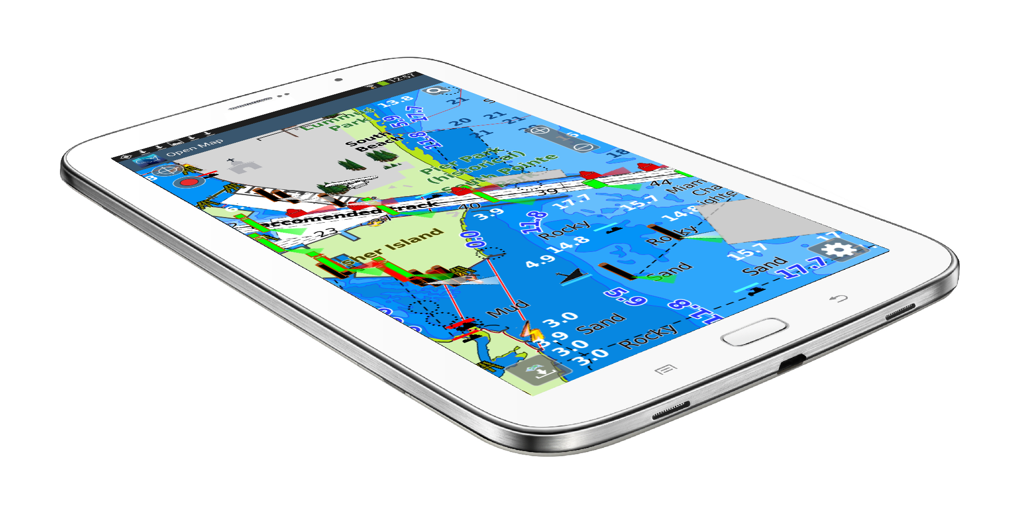 Aqua map android marine navigation gps boating charts gumiabroncs Gallery