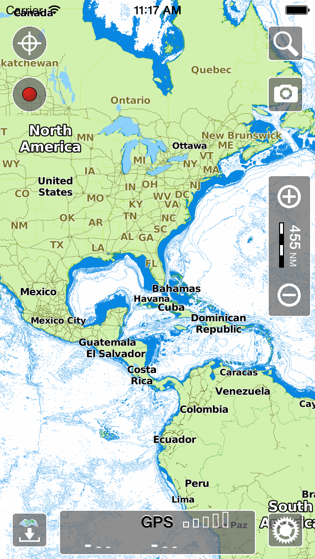 Aqua map ios marine navigation gps boating charts world basemap usa gumiabroncs Choice Image