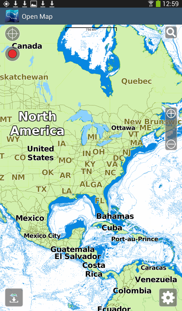 Aqua map android marine navigation gps boating charts world basemap usa gumiabroncs Gallery